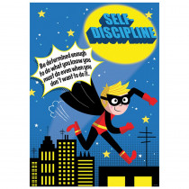 CTP7281 - Self Discipline Superhero Poster Inspire U in Inspirational
