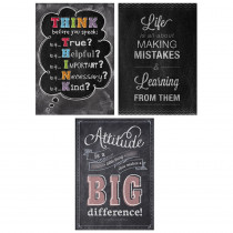 CTP7486 - Think Positive Poster Pack Chalk It Up in Motivational