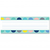 CTP8599 - Half-Dots On Turquoise Name Plates Calm & Cool in Name Plates