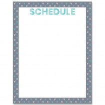 CTP8635 - Calm & Cool Schedule Chart in Classroom Theme