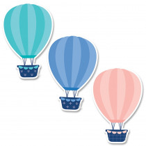 CTP8666 - 6In Designer Cut-Outs Hot Air Balloons Calm & Cool in Accents