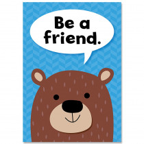 CTP8692 - Be A Friend Woodland Friends Inspre Poster in Inspirational