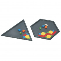 Pattern Block Tray Set - CTU102842 | Learning Advantage | Sorting