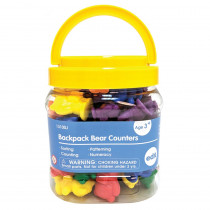 Backpack Bear Counters, Set of 96 - CTU13100 | Learning Advantage | Counting