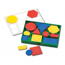 Deluxe Attribute Blocks, Set of 60 - CTU19560 | Learning Advantage | Geometry