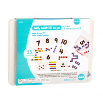 Early Math101 to go - Ages 4-5 - Number & Measurement - In Home Learning Kit for Kids - Homeschool Math Resources with 25+ Guided Activities - CTU38120 | Learning Advantage | Measurement