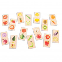 Wooden Fruit & Vegetable Match - CTU73404 | Learning Advantage | Patterning