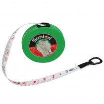 CTU7610 - Wind Up Tape Measure 33Ft in Rulers