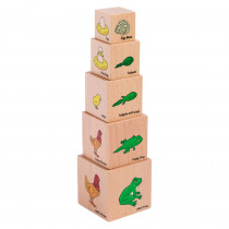 Lifecycle Wooden Blocks - Set of 5 - CTUFF466 | Learning Advantage | Animals