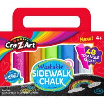 Washable Triangle Sidewalk Chalk Set, 48 Pieces - CZA108804 | Larose Industries Llc | Chalk