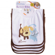 Terry Cloth Pullover Bibs - 4 Pack Cute Pets - DB-L539 | Dream Baby (Tee Zed) | Gear