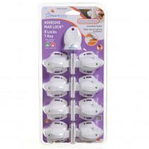 Adhesive Mag Locks 8 Locks, 1 Key - DB-L859 | Dream Baby (Tee Zed) | Gear