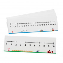 DD-211557 - 2 Sided Num Lines 0-10/0-20 10Set Write On/Wipe Off in Number Lines