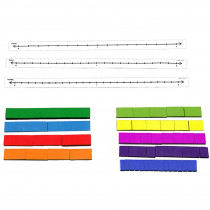 DD-211761 - Fraction Tile Number Line Set in Fractions & Decimals