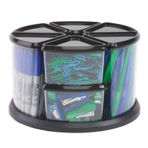 DEF39010104 - Carousel Organizer 9 Bin Black in Storage Containers