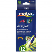 DIX28112 - Prang Groove Colored Pencils 12 Ct in Colored Pencils