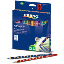 DIX28124 - Prang Groove Colored Pencils 24 Ct in Colored Pencils
