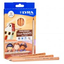 Color Giant Colored Pencils, 6.25mm, Skin Tones, 12 Colors - DIX3931124 | Dixon Ticonderoga Company | Colored Pencils