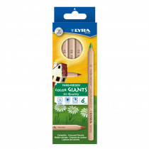 Color Giant Colored Pencils, 6.25mm, Lacquered, 6 Colors - DIX3941060 | Dixon Ticonderoga Company | Colored Pencils