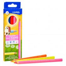 Color Giant Colored Pencils, Neon, 6.25mm, Lacquered, 6 Colors - DIX3941063 | Dixon Ticonderoga Company | Colored Pencils
