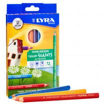 Color Giant Colored Pencils, 6.25mm, Lacquered, 12 Colors - DIX3941120 | Dixon Ticonderoga Company | Colored Pencils