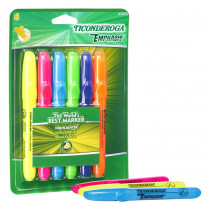 Emphasis Highlighters, Desk Style, Chisel Tip, 6 Assorted Colors - DIX47076 | Dixon Ticonderoga Company | Highlighters