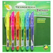 Emphasis Pocket Style Highlighters, 6-Color Set - DIX48008 | Dixon Ticonderoga Company | Highlighters