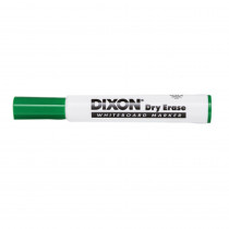 Dry Erase Markers Wedge Tip, Green, Pack of 12 - DIX92104 | Dixon Ticonderoga Company | Markers