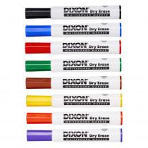Dry Erase Markers Wedge Tip, 8 Color Set - DIX92180 | Dixon Ticonderoga Company | Markers