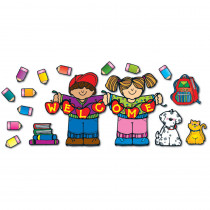 DJ-610033 - Apple Kids Welcome Bb Sets Welcome All in Classroom Theme