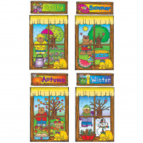 DJ-610038 - Four Seasons Windows Bulletin Board Set Set in Holiday/seasonal