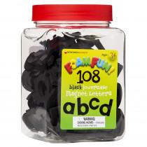 DO-733105 - Foam Fun Lowercase Black Magnet Letters in Magnetic Letters