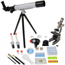 EE-EDUTM008 - Microscope & Telescope Set With Survival Kit in Microscopes