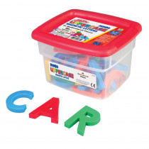 EI-1682 - Alphamagnets Jumbo Uppercase 42 Pcs Multicolored in Magnetic Letters
