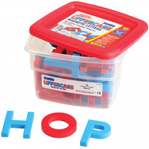 EI-1683 - Alphamagnets Jumbo Uppercase 42 Pcs Color-Coded in Magnetic Letters