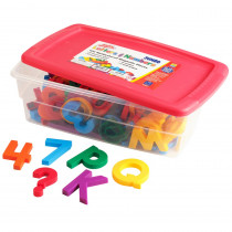 EI-1688 - Jumbo Alpha & Mathmagnets 100 Pcs Multicolored in Magnetic Letters