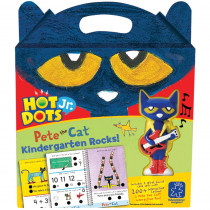 EI-2454 - Hot Dots Jr Pete The Cat Kindergarten Rocks & Pen in Hot Dots