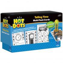 EI-2763 - Hot Dots Flash Cards Telling Time in Hot Dots