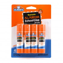 ELME542 - Elmers 4Pk School Glue Sticks All Purpose Washable in Glue/adhesives