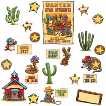 EP-2291 - Wanted Star Students Bulletin Board Set in Motivational