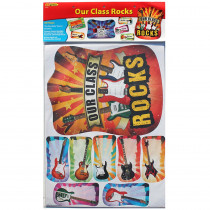 EP-2295 - Our Class Rocks Bulletin Board Set in Classroom Theme