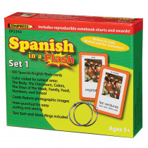EP-2342 - Spanish In A Flash Set 1 in Flash Cards