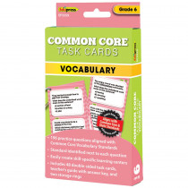 EP-3359 - Gr 6 Common Core Vocabulary Task Cards in Vocabulary Skills