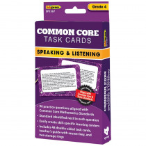EP-3367 - Common Core Task Cards Speaking & Listening Gr 4 in Language Skills