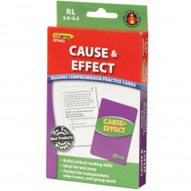 EP-3402 - Cause & Effect Practice Cards Reading Levels 5.0-6.5 in Comprehension