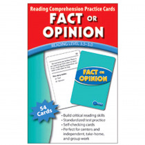 EP-3403 - Fact Or Opinion Practice Cards Reading Levels 5.0-6.5 in Comprehension