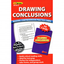 EP-3415 - Drawing Conclusions Reading Comprehension Practice Cards Red in Comprehension