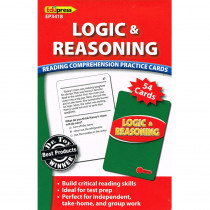EP-3418 - Logic & Reasoning Reading Comprehension Practice Cards Red in Comprehension