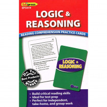 EP-3419 - Logic & Reasoning Reading Comprehension Practice Cards Blue in Comprehension