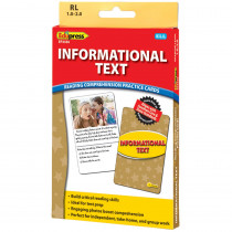EP-3436 - Informational Text Ylw Lvl Reading Comprehension Practice Cards in Comprehension
